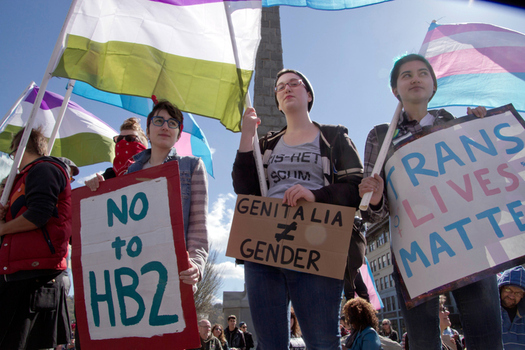 Throughout the year, people in North Carolina protested HB 2, state legislation that restricts the rights of those who are transgender. (AwakenedEye/iStockphoto)