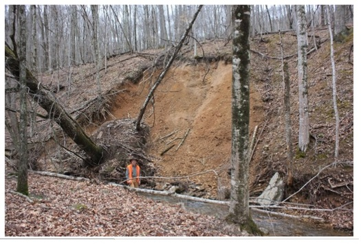 Critics of the Atlantic Coast Pipeline say its path is dangerously prone to landslides. (Lynn Limpert/the Dominion Pipeline Monitoring Coalition)