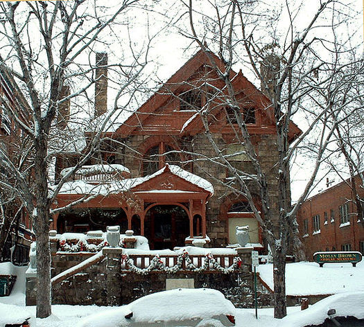 "New GPS-based audio walking tours include historic sites such as the ""unsinkable"" Molly Brown's house just blocks from the State Capitol building (Wikimedia Commons)"
