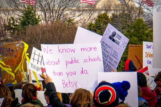 Public-education advocates are opposing the nomination of billionaire Betsy DeVos for secretary of education. (Ted Eytan/Flickr)