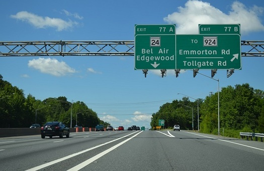 I-95 is one of the roads the state of Maryland wants to use as a testing ground for driverless cars. (md.gov)