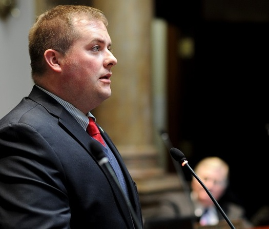 Kentucky Senate Judiciary Chair Whitney Westerfield is pushing legislation aimed at reducing disparities in how minority youth are treated by the juvenile-justice system. (LRC Public Information)