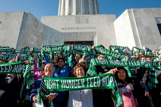 Hunger-fighting advocates are worried that new budget proposals in Salem could hurt their efforts to help feed the hungry. (Lindsay Trapnell/Oregon Food Bank)