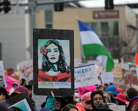 Women are rallying on International Women's Day, keeping up momentum from the Women's March in January. (David Geitgey Sierralupe/Flickr)