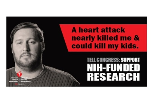 Heart-attack survivor Shane Mandel says more research can help other folks avoid what he's gone through. (American Heart Assn.)