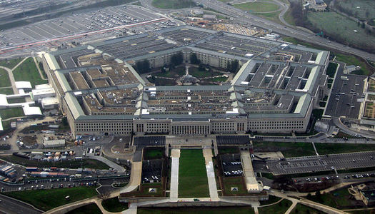 A historic boost in Pentagon spending proposed by President Trump appears to come at the cost of foreign aid. (DB Gleason/Wikimedia)