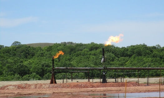 Flaring or burning of natural gas means less royalties for government agencies and more energy wasted. (Bureau of Land Management)