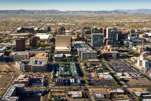 Looser air standards could raise ozone levels in metropolitan areas like Phoenix. Credit: Jerry Ferguson