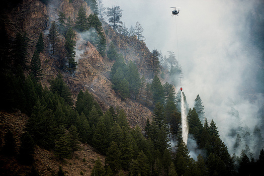 Climate change could increase fires in Idaho, which in turn would threaten the state's natural resources. (Lance Cheung/USDA)