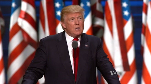 """""""Trumpertension?"""" Rising stress levels since last November's election have health professionals concerned. (Voice of America/Wikimedia Commons)"""