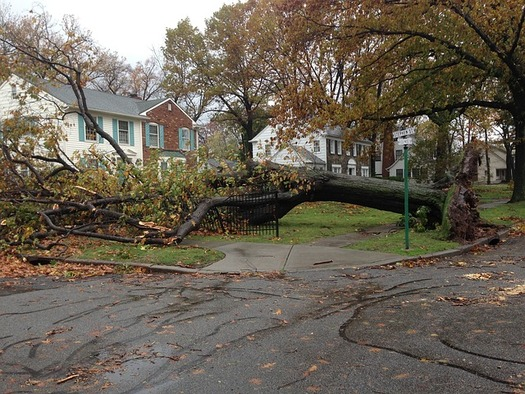 Scientists say powerful storms such as Hurricane Sandy are among the climate threats facing coastal states such as Maine. (Pixabay)