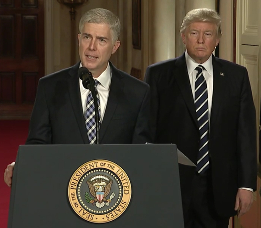 President Trump's pick for the U.S. Supreme Court, Judge Neil Gorsuch, has a history of ruling against students with disabilities. (WhiteHouse.gov via Wikimedia Commons)