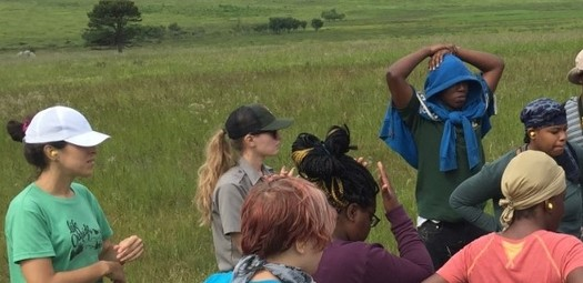 For women working on conservation issues in Virginia, such as Giles Harnsberger, left, current challenges are turning into opportunities for growth. (Groundwork RVA)