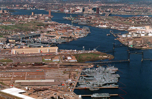 A warming climate and rising sea levels already are affecting U.S. military bases. (Robert J. Sitar, USN/Wikimedia Commons)