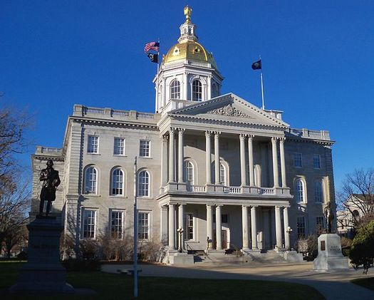 Members of the Senate Finance Committee take up the New Hampshire budget Monday at the State House. The House failed to pass its budget bill last week. (AlexiusHoratius/Wikimedia)