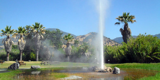 A Napa geyser is evidence of California's geothermal resources, which scientists say should be a bigger part of the state's renewable-energy portfolio. (maisna/iStockphoto)