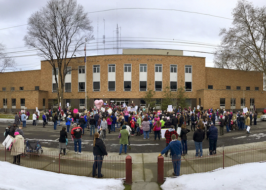 An organizer says momentum for Saturday's march grew after the Women's March drew a large crowd in Pendleton. (Pat Hall Walters)