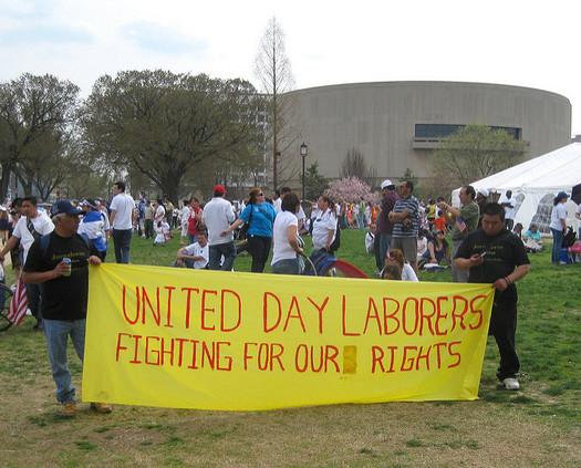 Romeo Sosa of the organization VOZ says day laborers are misunderstood by the community. (futureatlas.com/Flickr)