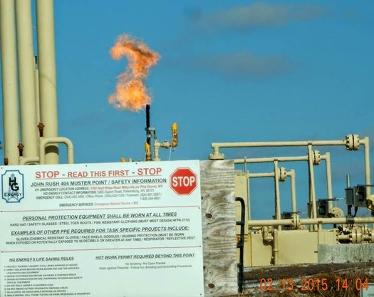 Natural gas worth hundreds of millions of dollars is vented or flared from federal land each year. (FracTracker Alliance)