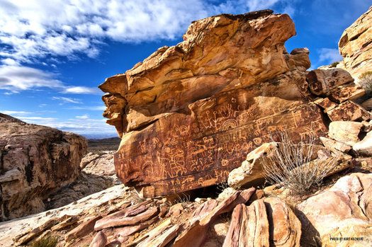 Gold Butte National Monument, designated five months ago, is home to striking examples of ancient rock art. (Kurt Kuznicki)