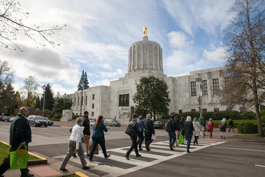 Oregon's big budget shortfall could hinder efforts to fund homelessness service programs. (Oregon Food Bank)