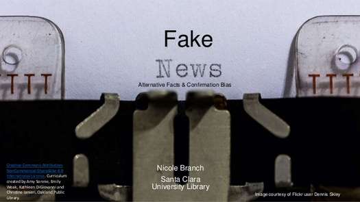 Voters aren't so easily fooled by fake news, according to the latest research. (Dennis Skley/flickr)