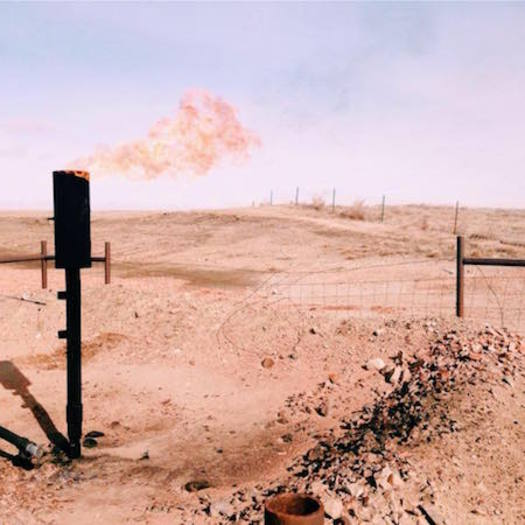 Flaring excess natural gas from oil facilities on federal or tribal land is controversial because it results in lower royalties for taxpayers. (Caitlyn Cromwell)