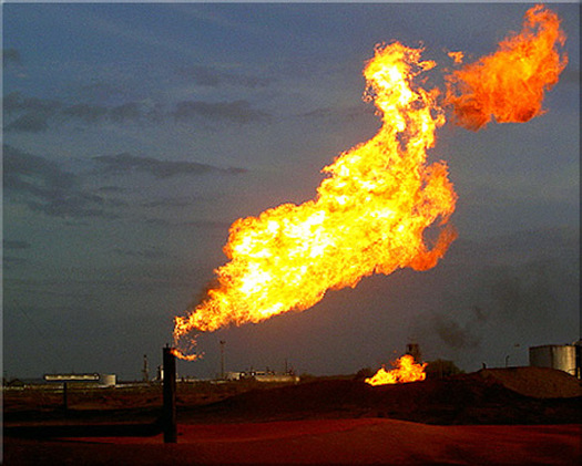 About 110 billion cubic feet of gas is lost to leaks, venting and flaring on federal land every year. (Tod Baker/Flickr)