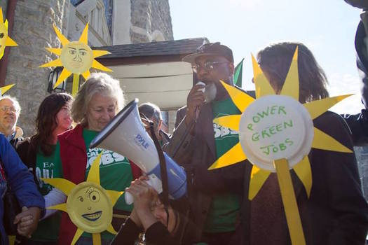 The Walk for Green Jobs and Justice began in North Philadelphia on May 8, and wraps up on May 22 in Philadelphia. (EQAT)
