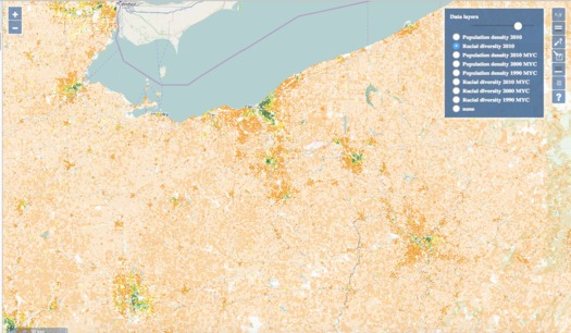An Ohio researcher is using maps from space and Census data to track segregation in America. (University of Cincinnati)