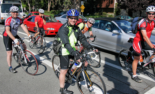 Between 2000 and 2013, the number of bicycle commuters grew by 62 percent across the United States, according to the League of American Bicyclists. (Richard Masoner/Flickr)