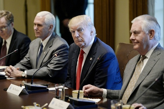 Despite White House claims to the contrary, new analysis finds President Trump's budget for federal safety-net programs at a historic low. (Getty Images)