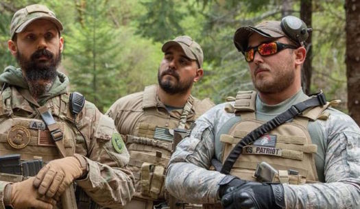 The Oath Keepers, an armed militia group, has been active in Oregon for many years. (Shawn Records/Rural Organizing Project)