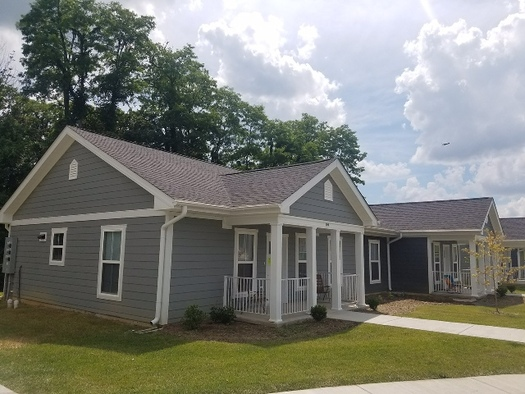 """A place to relax."" New housing units in Lexington are hoped to help survivors of intimate-partner violence move toward  self-sufficiency. (Corissa Phillips)"