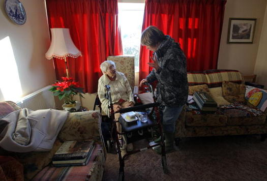 AARP says 580,000 Wisconsinites are unpaid caregivers for a family member. (Matt Curdy/Getty Images)
