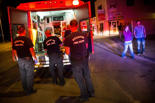 A new grant in North Dakota helps first responders coordinate with hospitals for faster care of stroke victims. (Andrew Burton/Getty Images)
