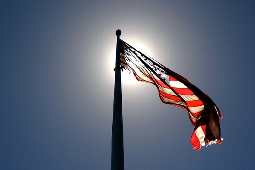 There are efforts in Congress to prohibit desecration of the American flag. (Jeff Kubina/Flickr)
