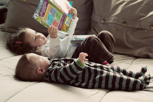 Researchers say engaging a child during reading time can help build literacy skills. (ThomasLife/Flickr)