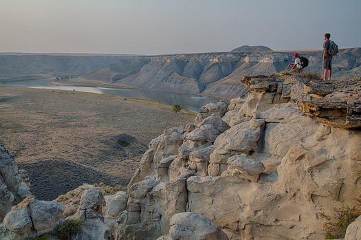 The Upper Missouri River Breaks National Monument is a popular destination for hikers. (Bob Wick/Bureau of Land Mgmt.)