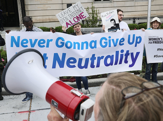 Net-neutrality backers say the policy is good for internet startups that want to compete with more established companies. (Chip Somodevilla/Getty Images)