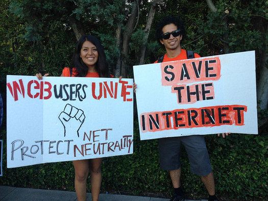 Internet users are concerned that a proposal from the FCC could dismantle net neutrality. (Free Press/Flickr)