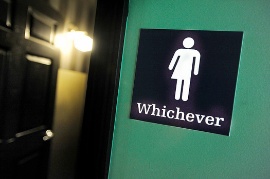 A controversial bill on the agenda of an upcoming special session of the Texas Legislature would restrict where transgender Texans can use the bathroom. (Davis/Getty Images)