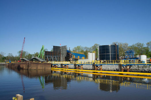 After years of dredging, Hudson River sediment still is contaminated with PCBs. (Peretz Partensky/Wikimedia Commons)