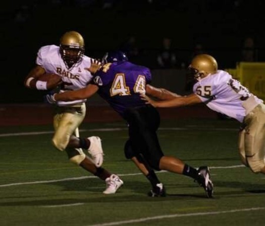 Zac Easter, No. 44, suffered three concussions in a two-month period during his senior year of high school. (CTE Hope)