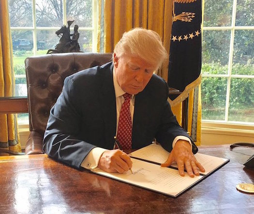 President Trump could unilaterally end subsidies for insurance purchased through the marketplace. (Sean Spicer/Wikimedia Commons)