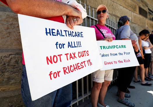 Protests to save the Affordable Care Act will continue this Saturday in more than 100 cities across the U.S., including three in Colorado. (Getty Images)