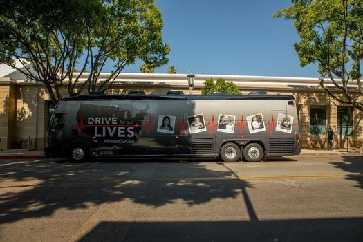 "The ""Drive For Our Lives"" bus tour started in Los Angeles and is set to end in Washington, D.C., on Sept. 6. (Drive For Our Lives)"