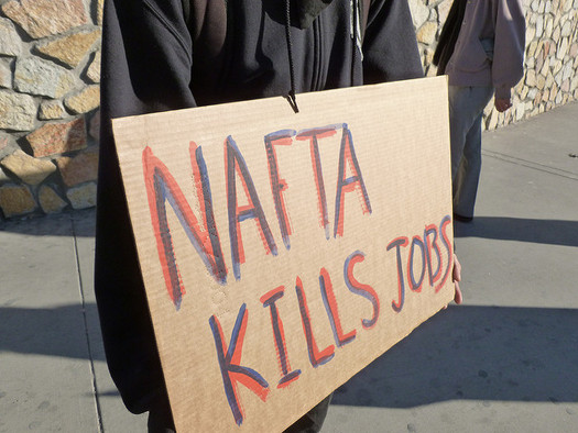NAFTA resulted in the loss of an estimated 680,000 manufacturing jobs in the United States. (Billie Greenwood/Flickr)