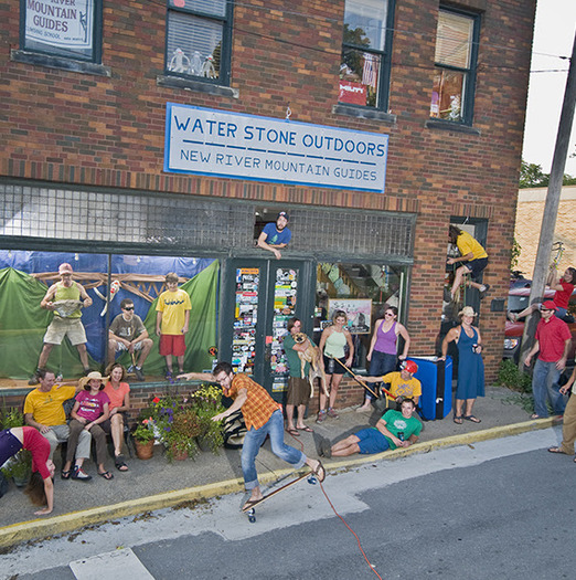 Outdoor business like Water Stone Outdoors in Fayetteville represent tens of thousands of jobs and billions in economic activity for West Virginia. (Kenny Parker)