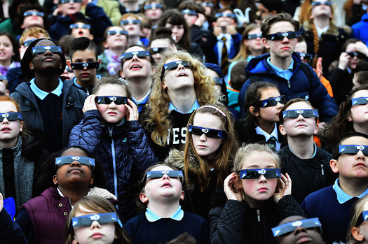 Astronomers warn that proper eye protection is essential for viewing the solar eclipse. (Jeff J. Mitchell/Getty Images)